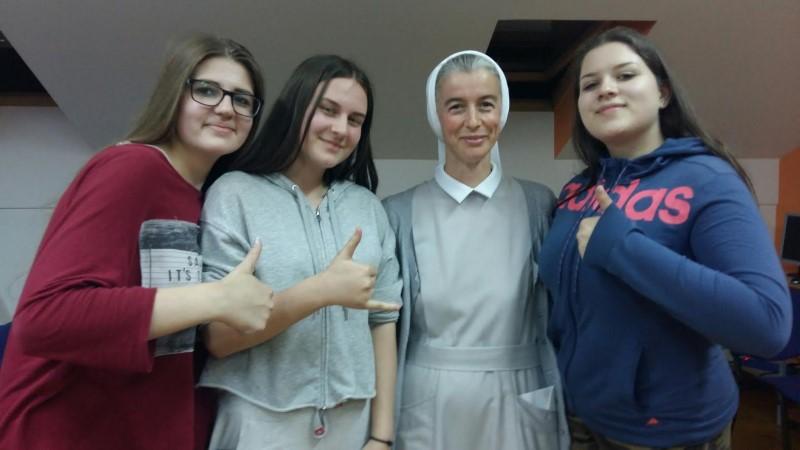 """s. Marta Čović, misionarka u Ugandi posjetila """"Internat KŠC-a Sv. Josip"""" u Sarajevu"""