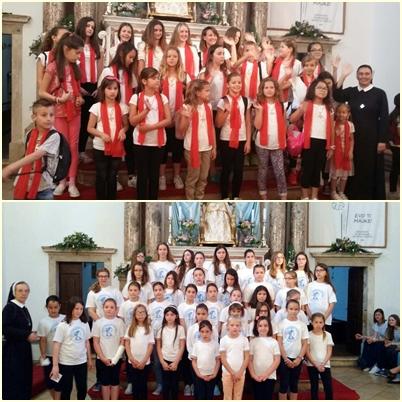 Zlatna harfa u Ninu - s dječjim zborovima nastupile su naše s. Marija Beroš i s. M. Leopoldina Đurić